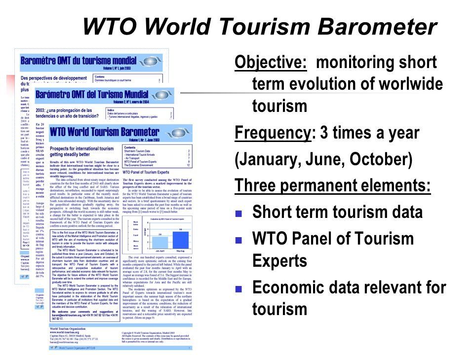 WTO World Tourism Barometer