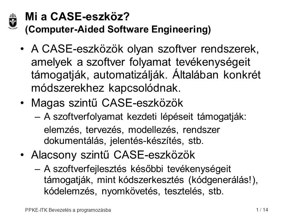 Mi a CASE-eszköz (Computer-Aided Software Engineering)