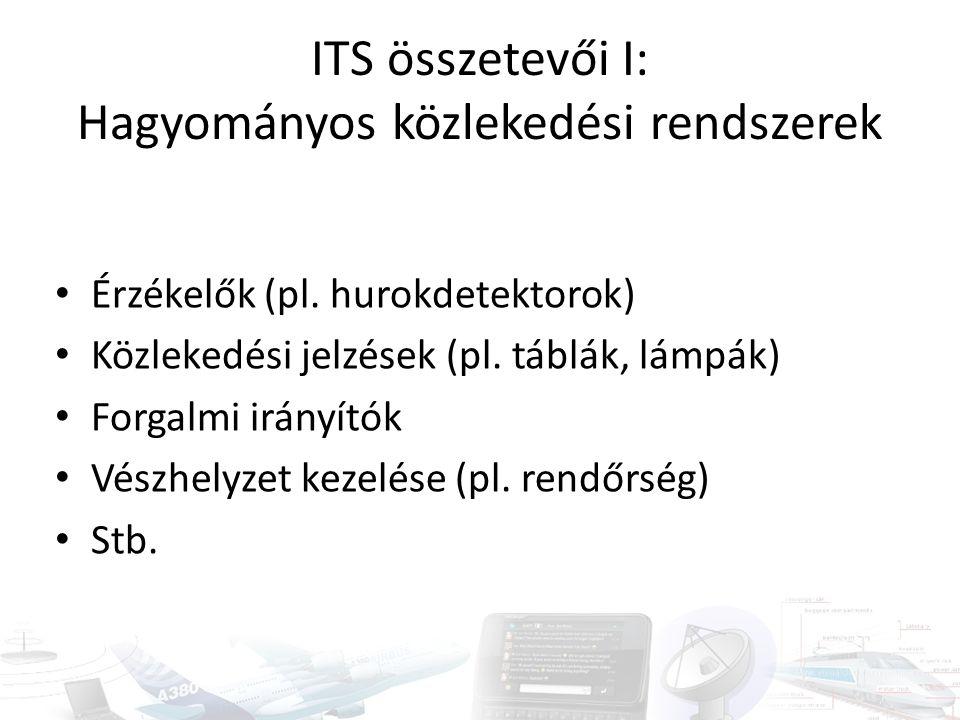 ITS összetevői I: Hagyományos közlekedési rendszerek