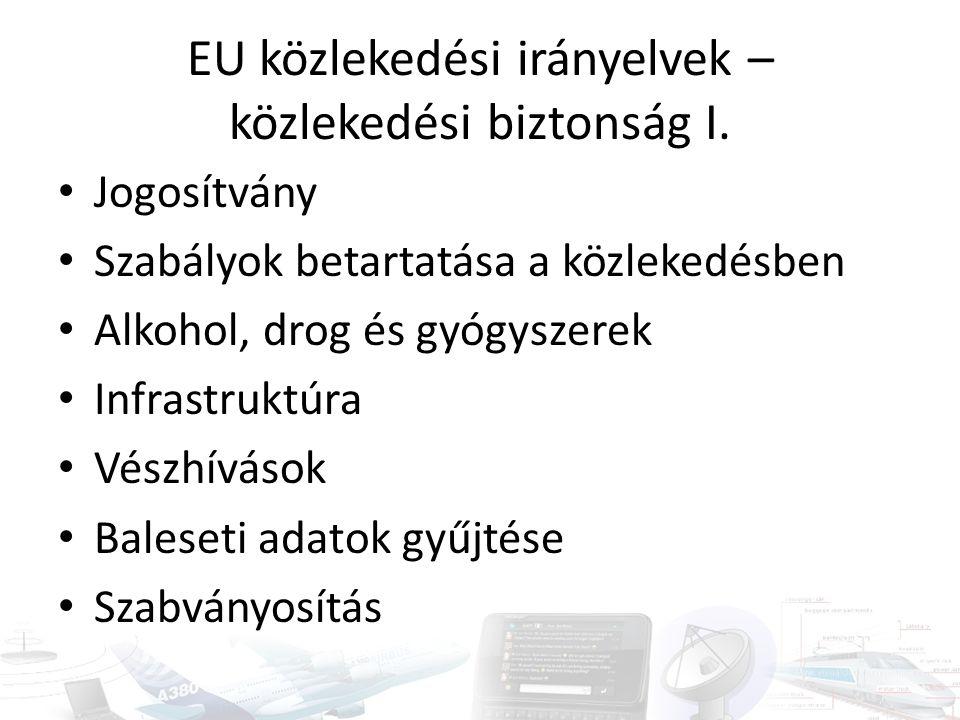 EU közlekedési irányelvek – közlekedési biztonság I.