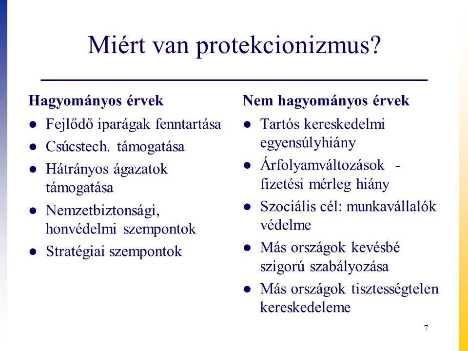 Miért van protekcionizmus