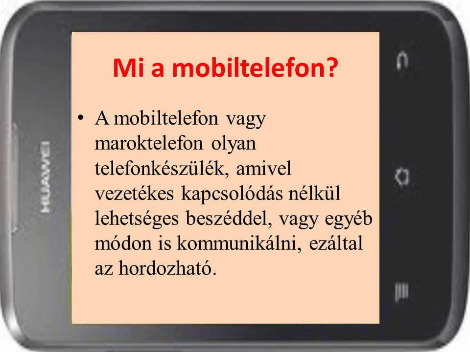 Mi a mobiltelefon