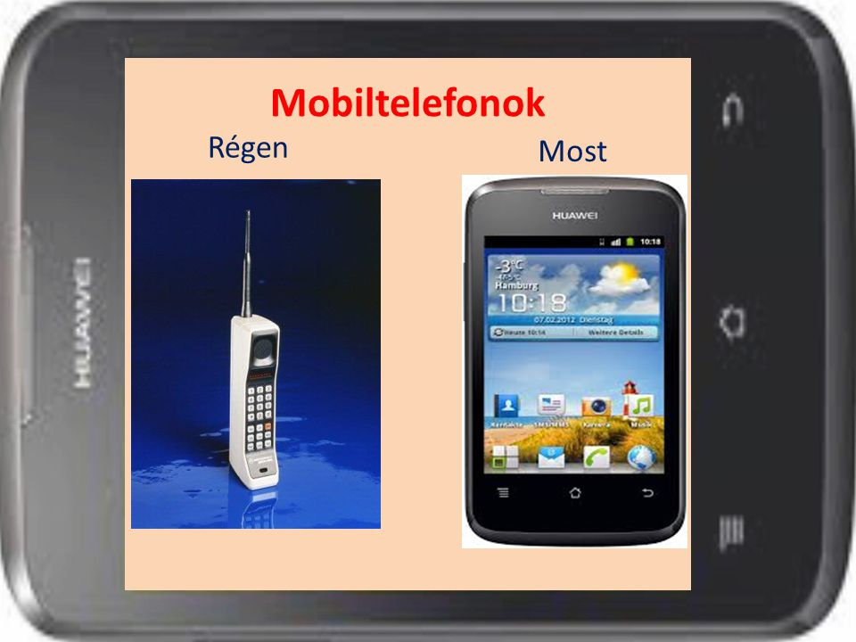 Mobiltelefonok Régen Most