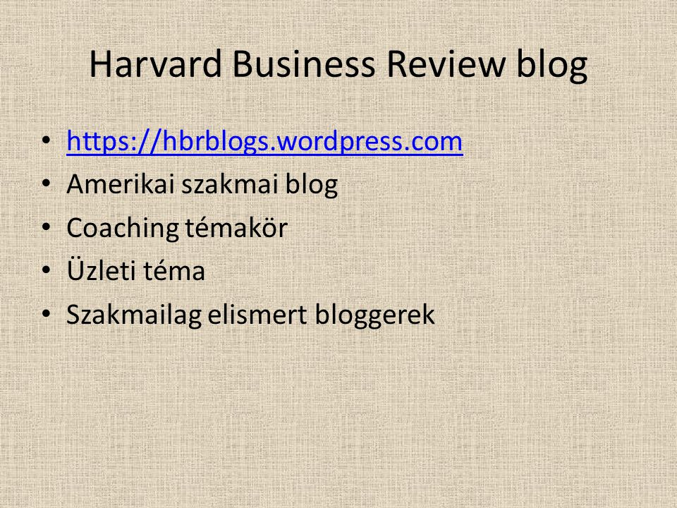 Harvard Business Review blog