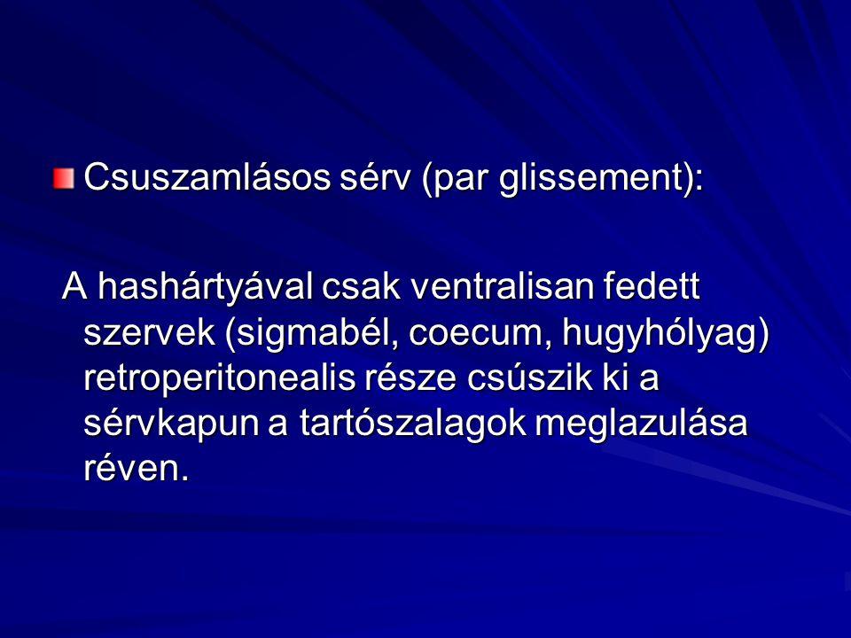 Csuszamlásos sérv (par glissement):