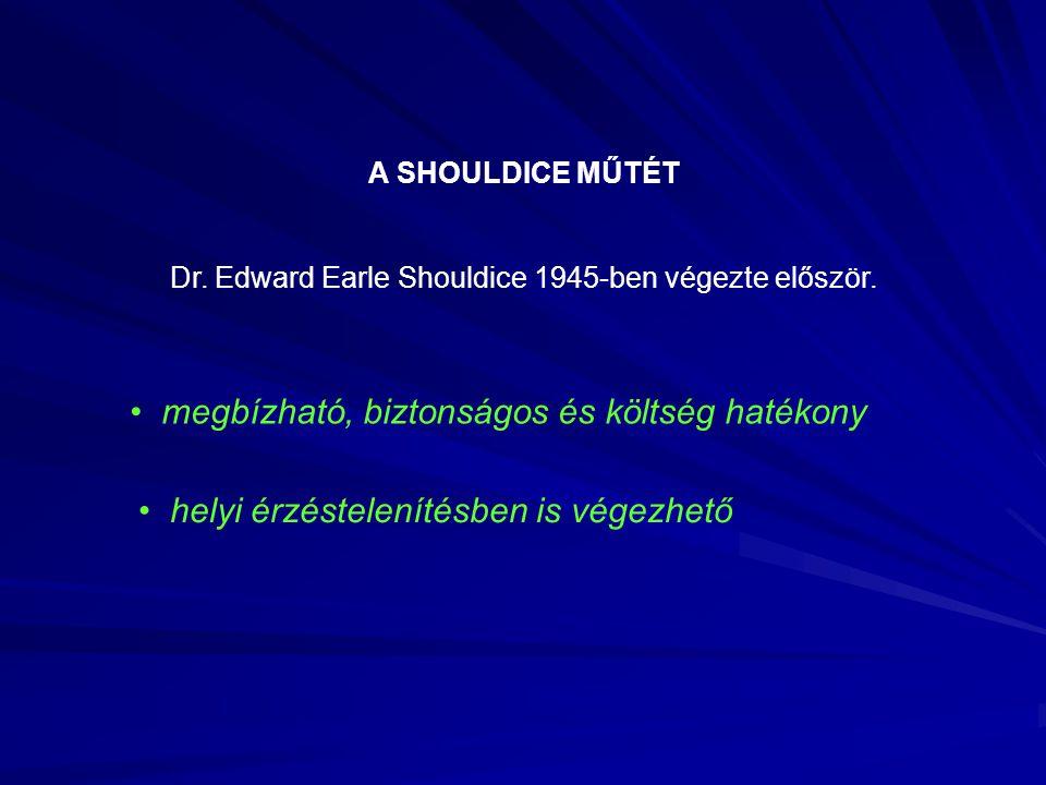 Dr. Edward Earle Shouldice 1945-ben végezte először.