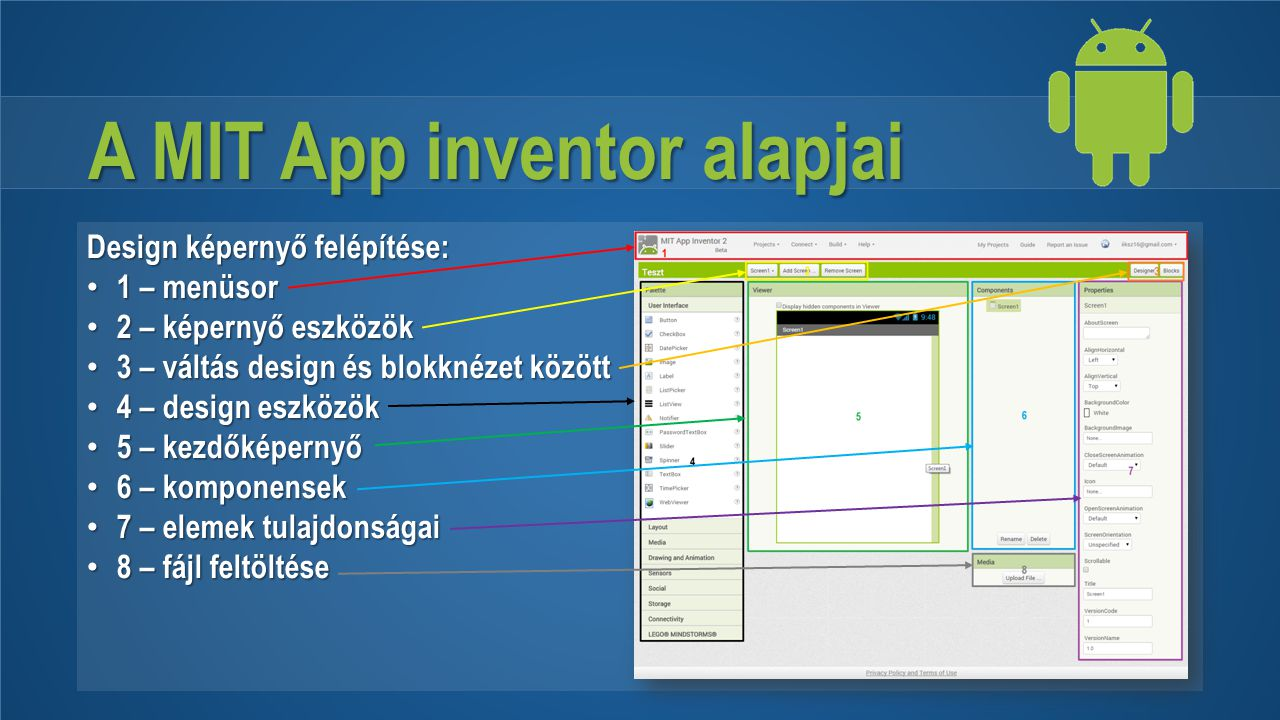 A MIT App inventor alapjai