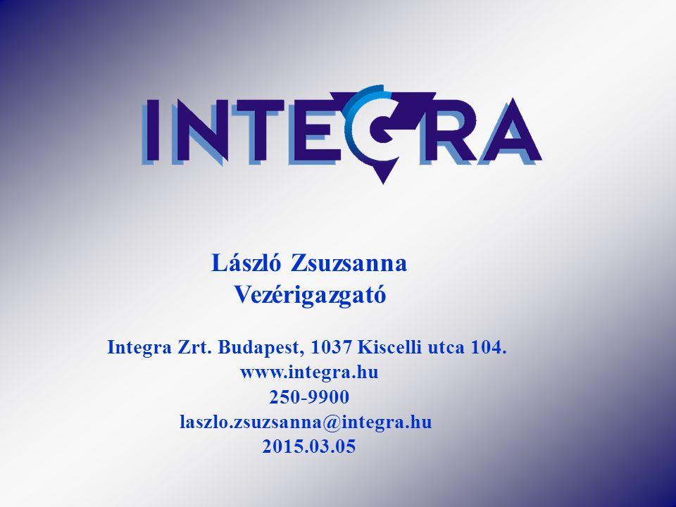 Integra Zrt. Budapest, 1037 Kiscelli utca 104.