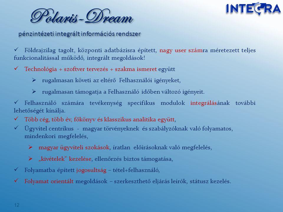 Polaris-Dream pénzintézeti integrált információs rendszer