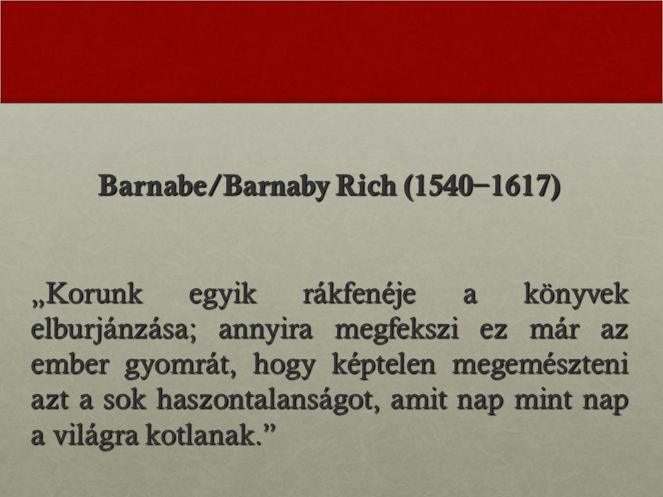 Barnabe/Barnaby Rich (1540−1617)