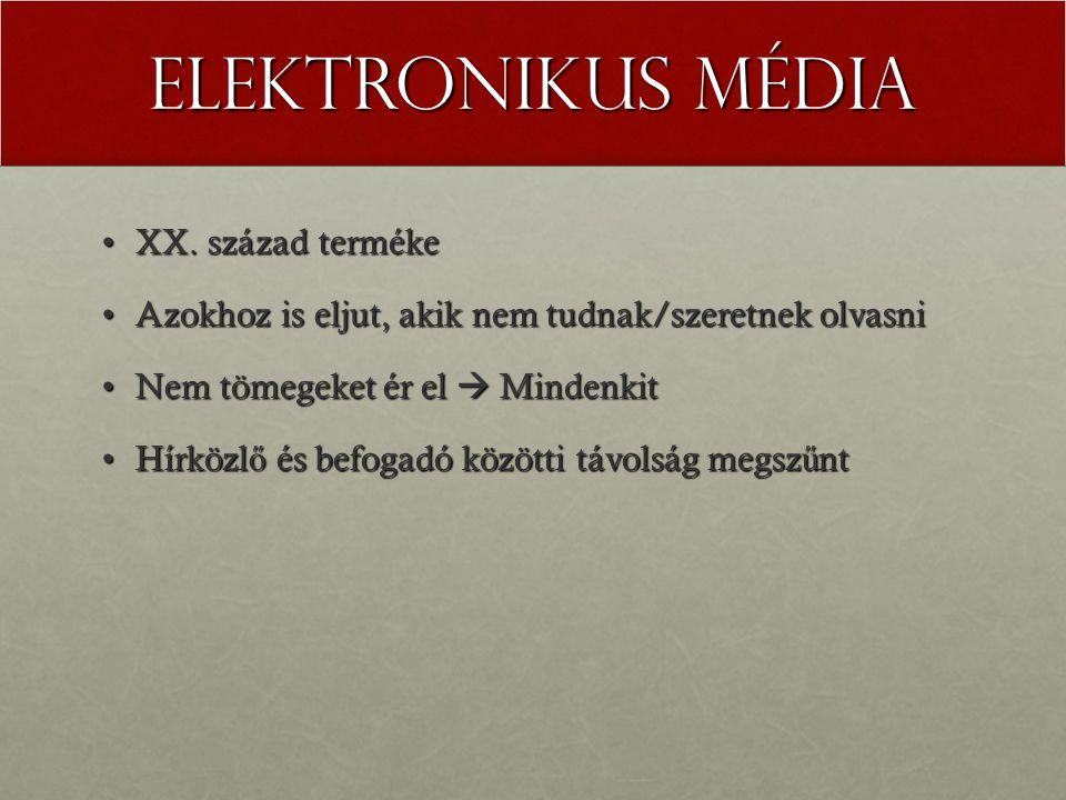 Elektronikus média XX. század terméke