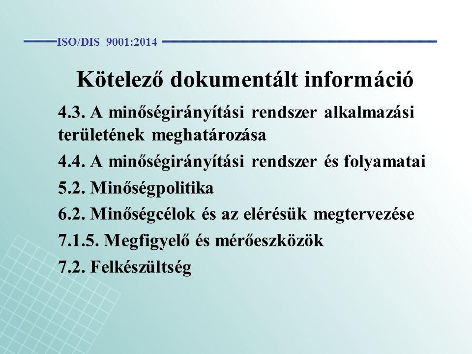 Kötelező dokumentált információ