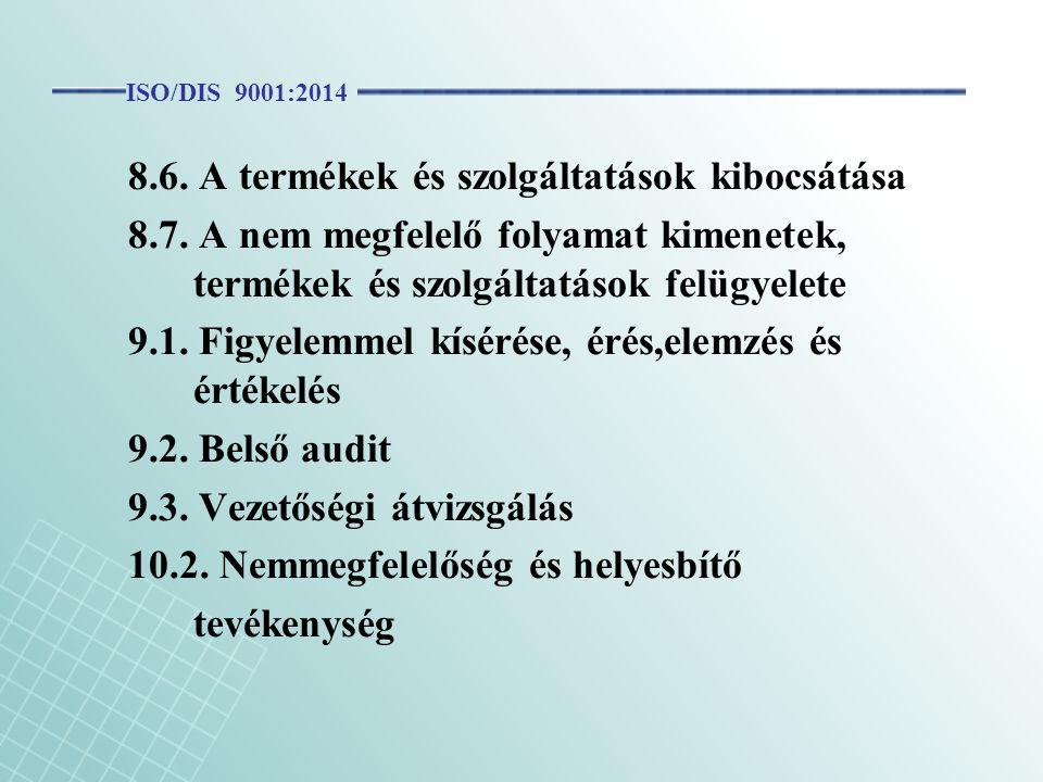 8.6. A termékek és szolgáltatások kibocsátása