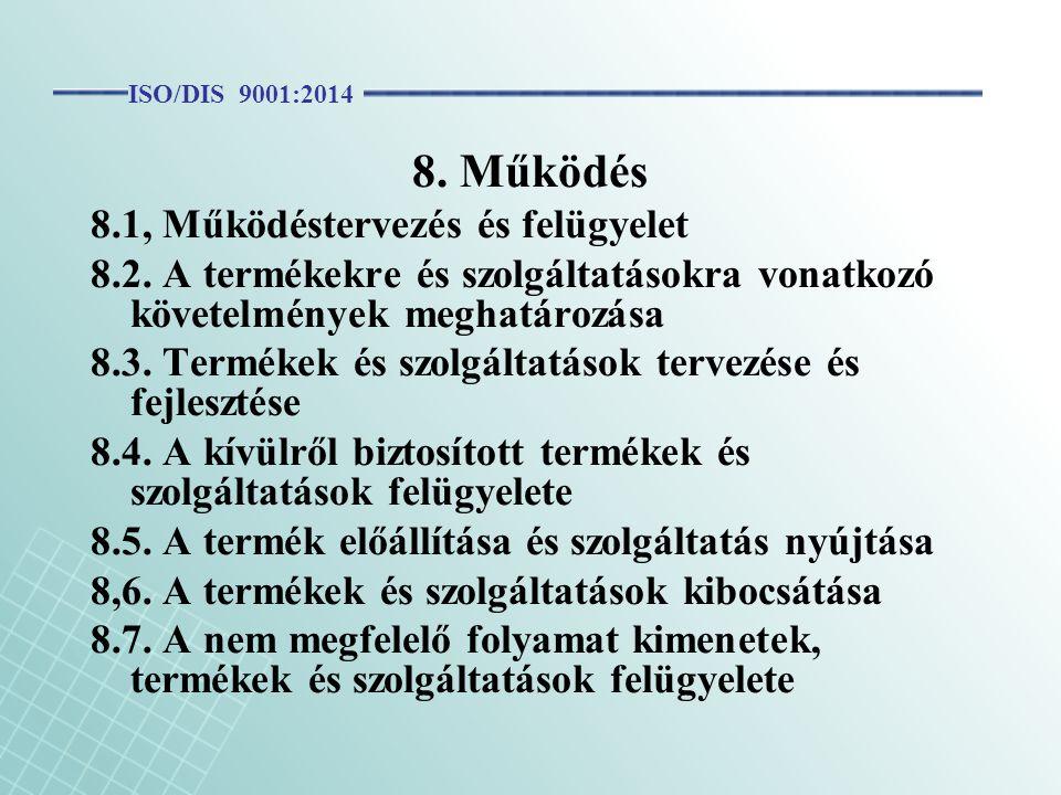 8. Működés 8.1, Működéstervezés és felügyelet