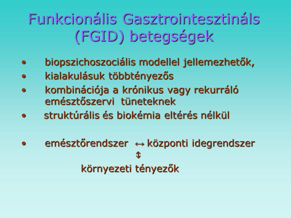 Funkcionális Gasztrointesztináls (FGID) betegségek
