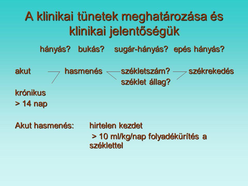A klinikai tünetek meghatározása és klinikai jelentőségük