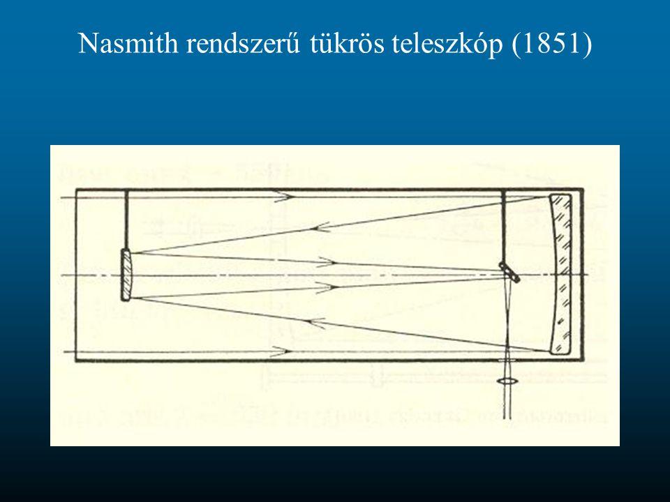Nasmith rendszerű tükrös teleszkóp (1851)