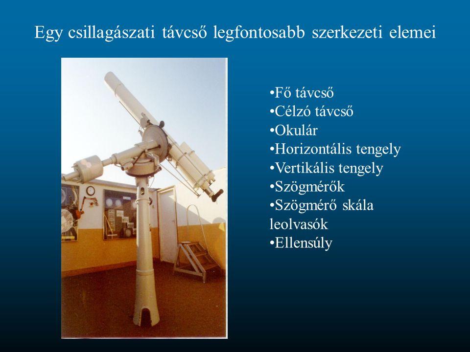 Egy csillagászati távcső legfontosabb szerkezeti elemei
