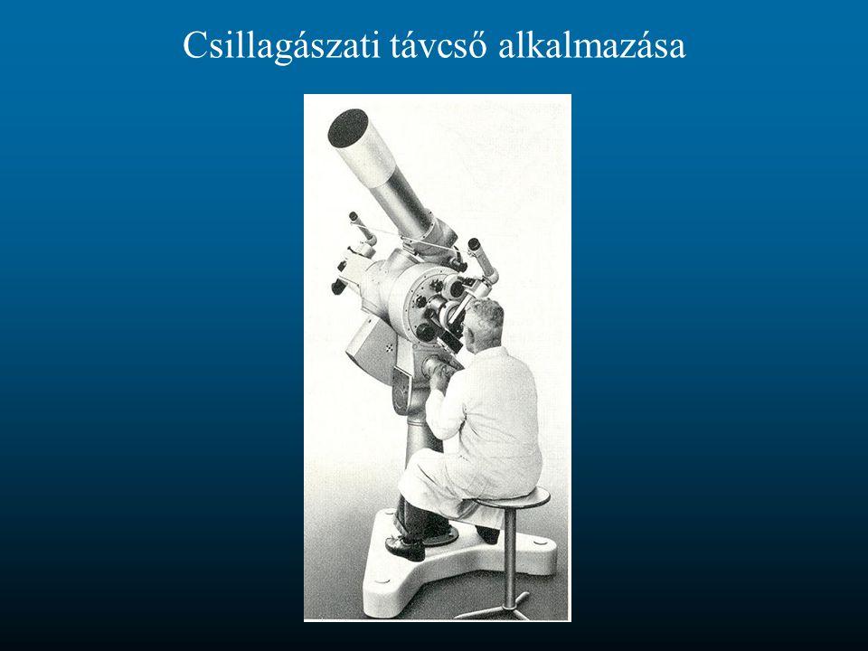 Csillagászati távcső alkalmazása