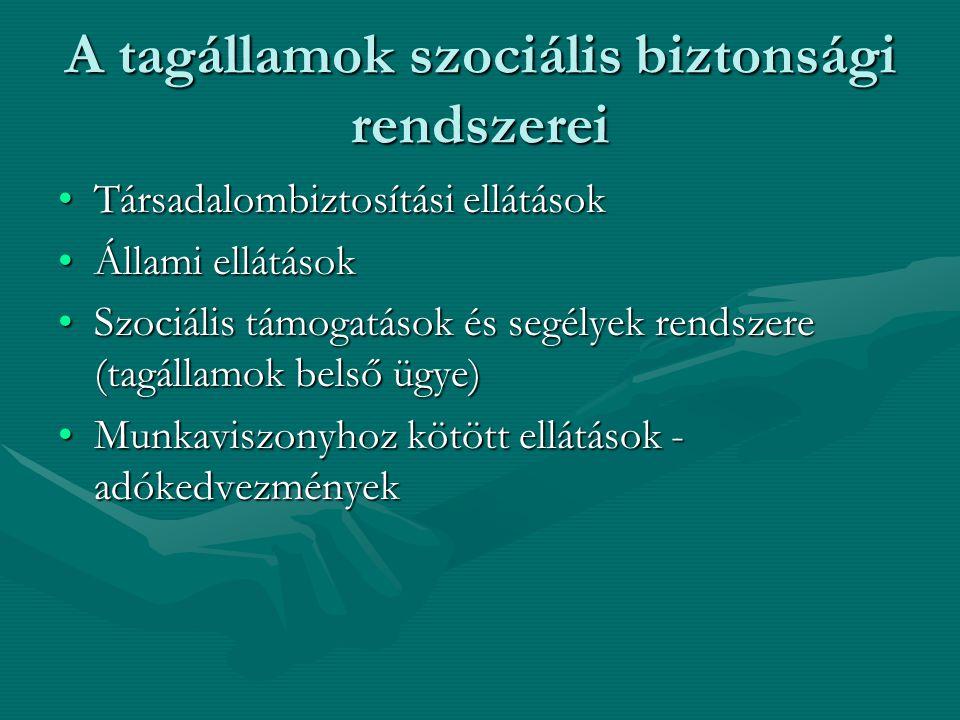 A tagállamok szociális biztonsági rendszerei