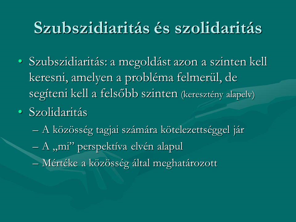 Szubszidiaritás és szolidaritás