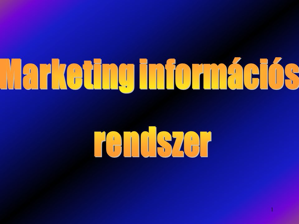 Marketing információs