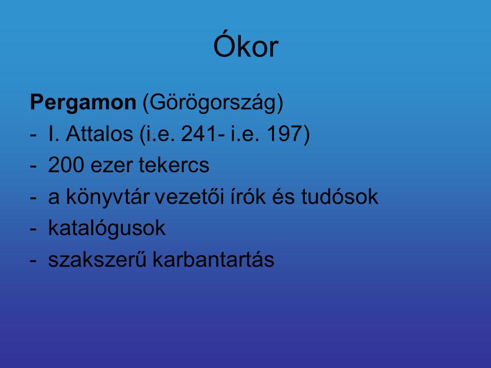 Ókor Pergamon (Görögország) I. Attalos (i.e. 241- i.e. 197)