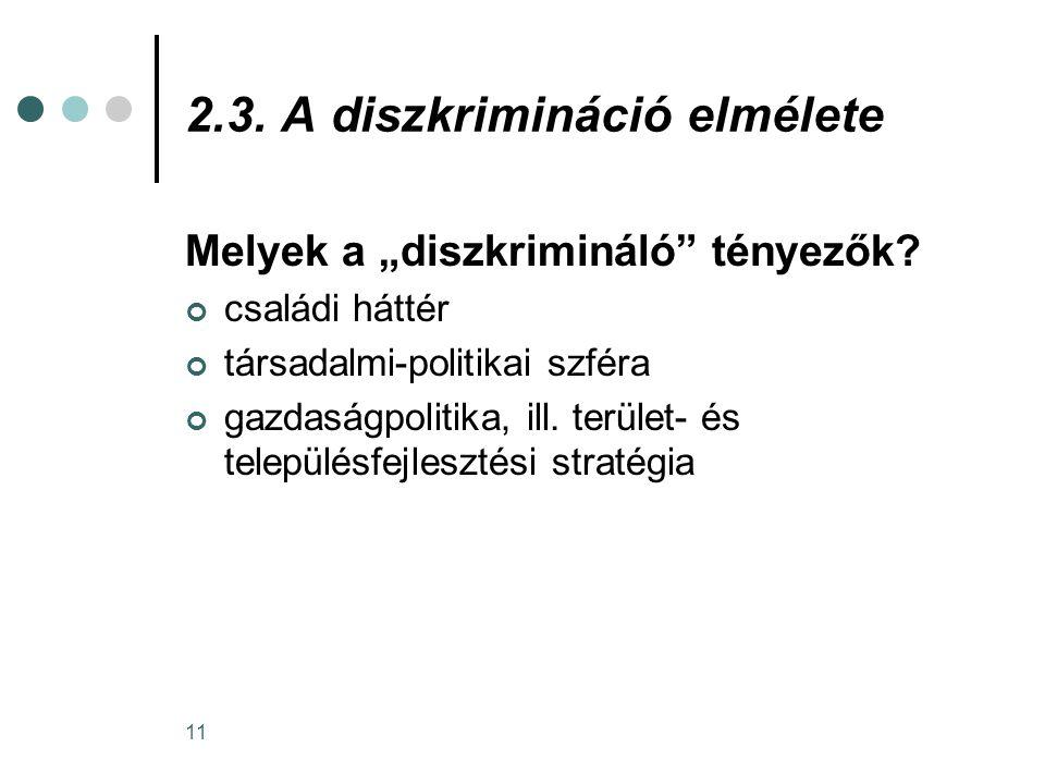 2.3. A diszkrimináció elmélete