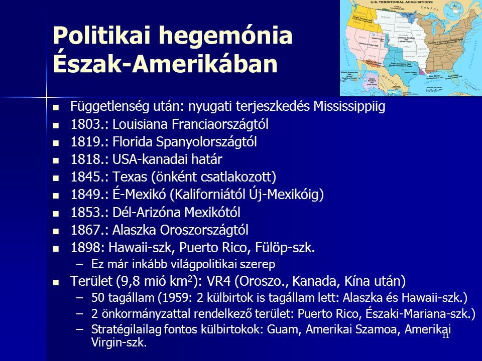 Politikai hegemónia Észak-Amerikában