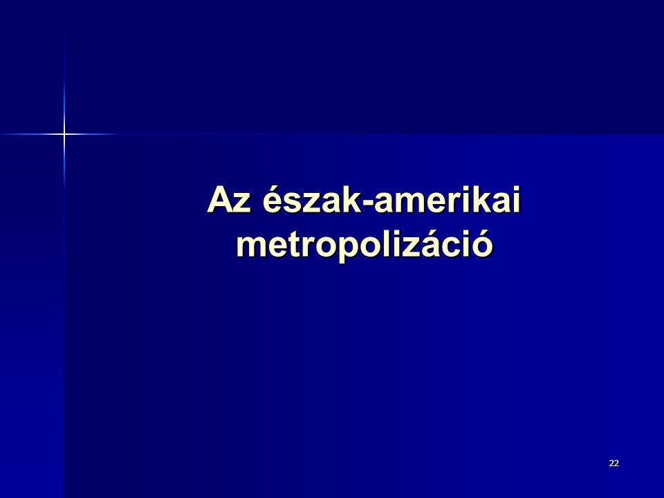 Az észak-amerikai metropolizáció