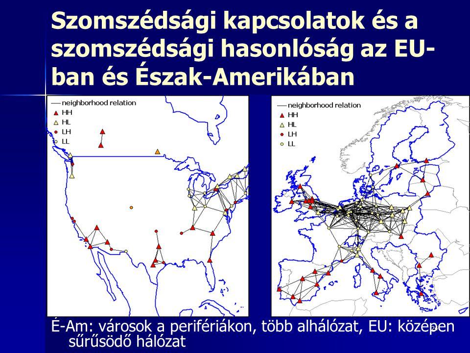 Szomszédsági kapcsolatok és a szomszédsági hasonlóság az EU-ban és Észak-Amerikában
