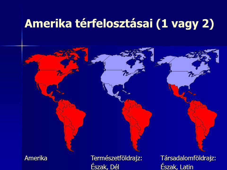 Amerika térfelosztásai (1 vagy 2)