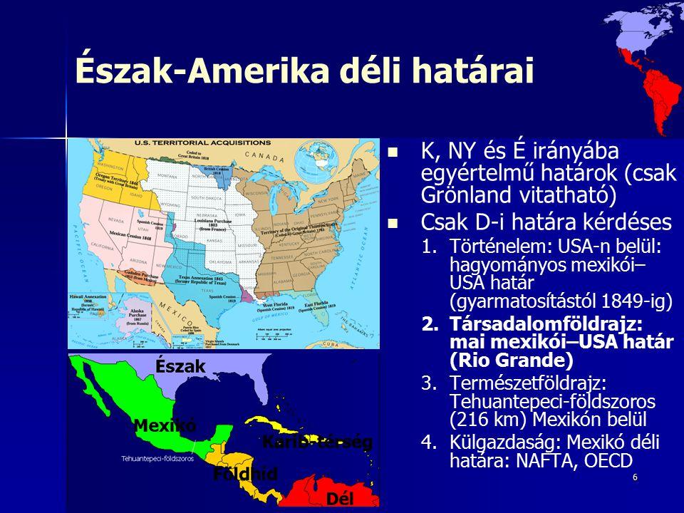 Észak-Amerika déli határai