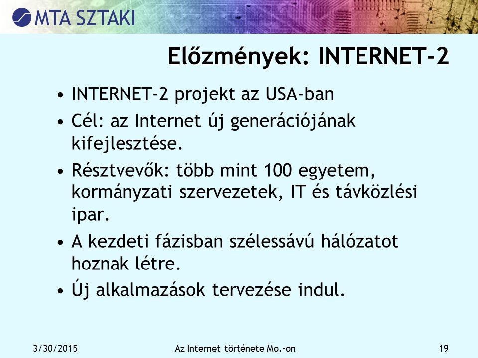Előzmények: INTERNET-2