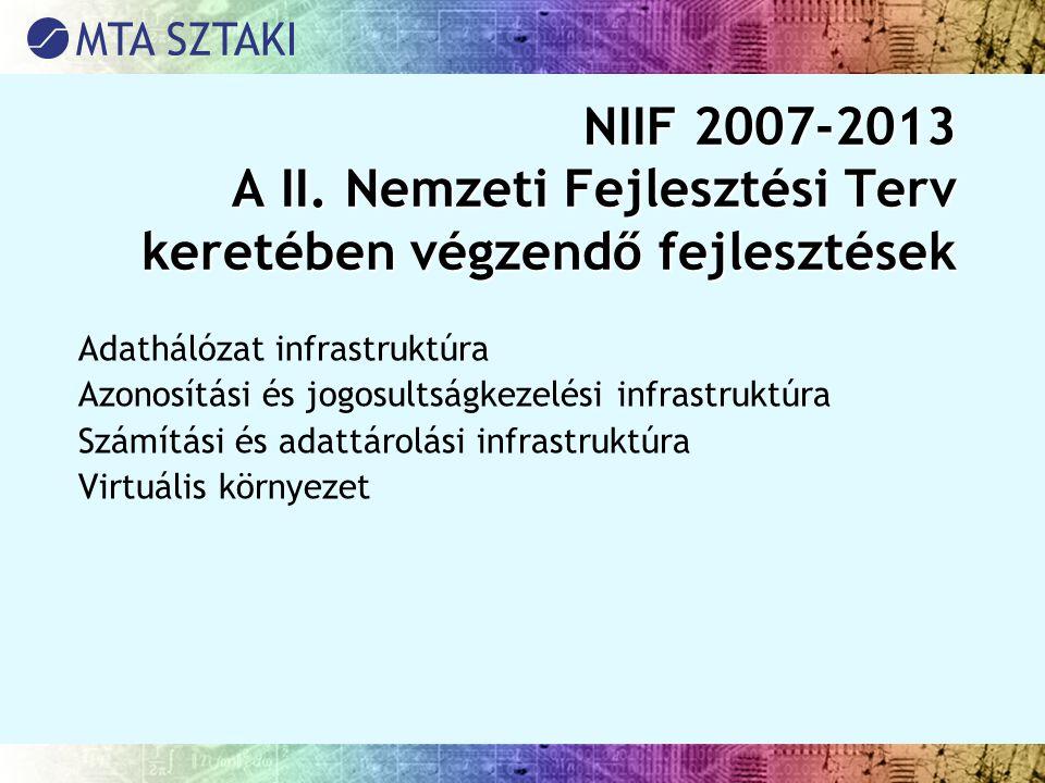 NIIF 2007-2013 A II. Nemzeti Fejlesztési Terv keretében végzendő fejlesztések