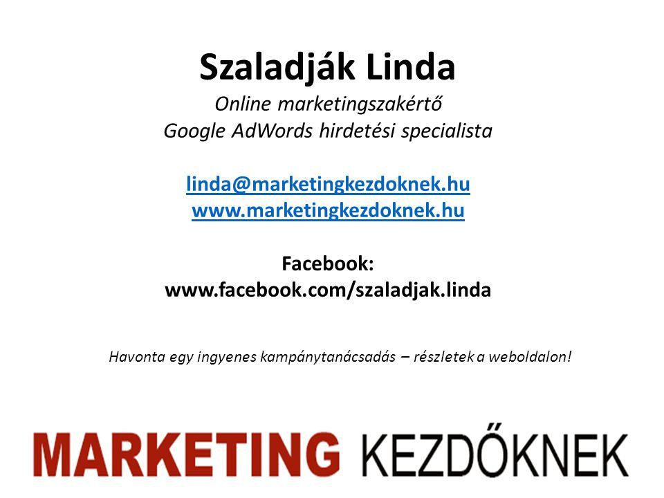Szaladják Linda Online marketingszakértő