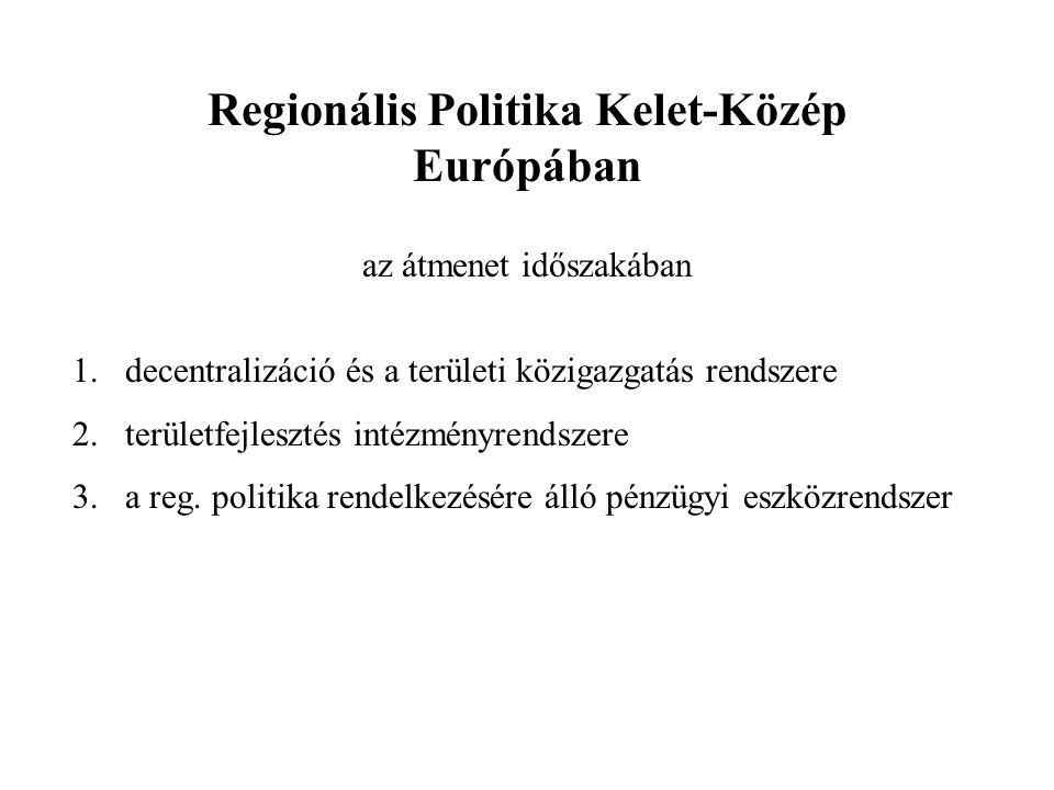 Regionális Politika Kelet-Közép Európában