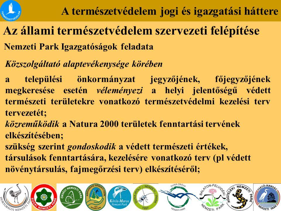 Az állami természetvédelem szervezeti felépítése