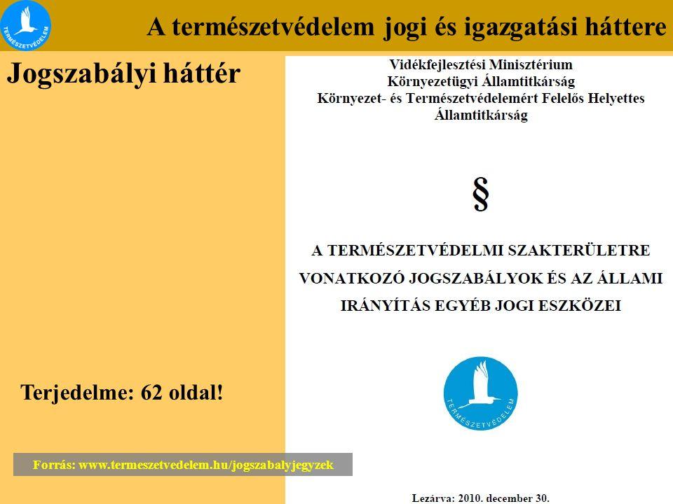 Forrás: www.termeszetvedelem.hu/jogszabalyjegyzek