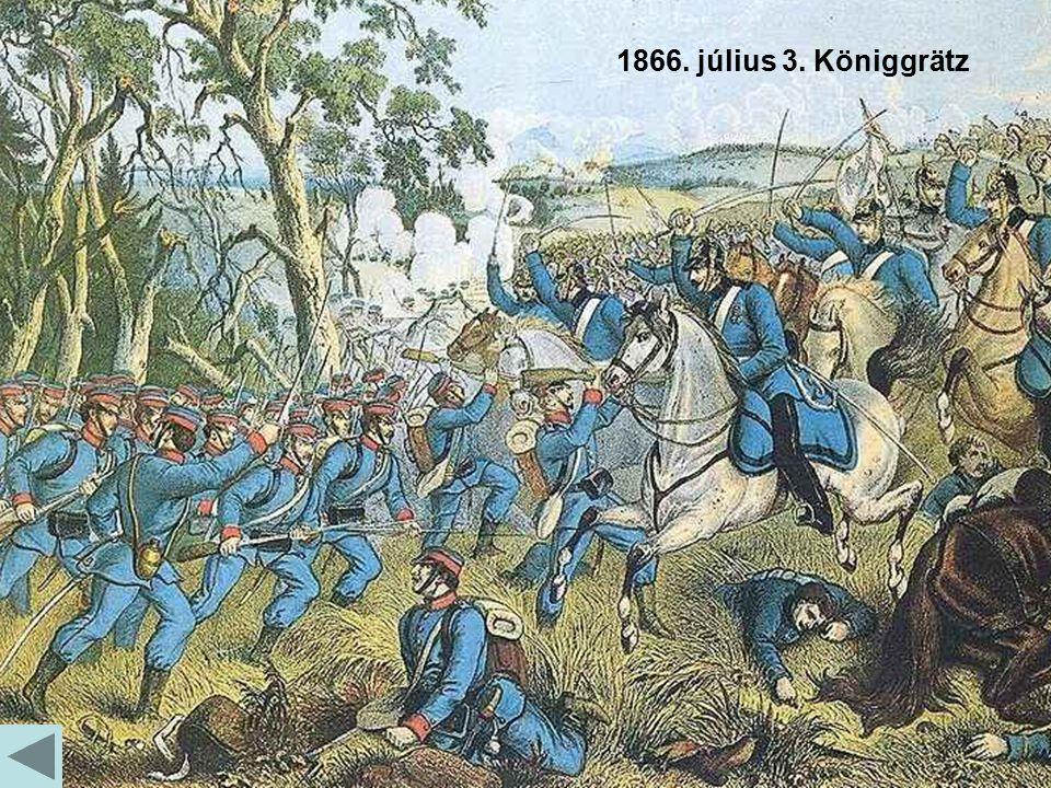 1866. július 3. Königgrätz Richard Belcredi Otto von Bismarck