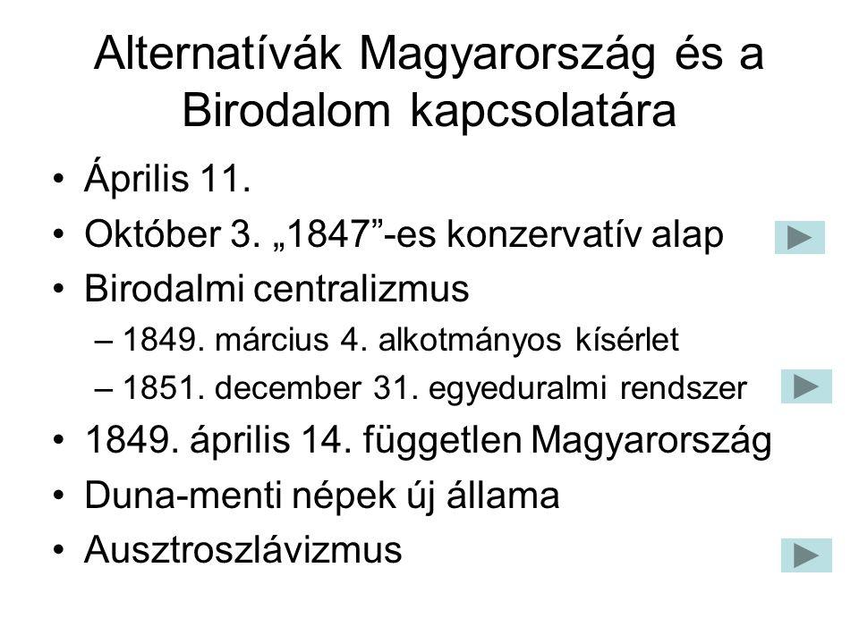 Alternatívák Magyarország és a Birodalom kapcsolatára