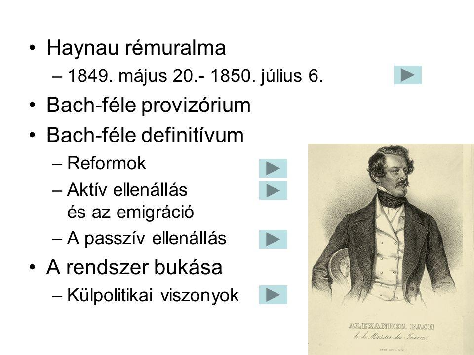 Bach-féle provizórium Bach-féle definitívum