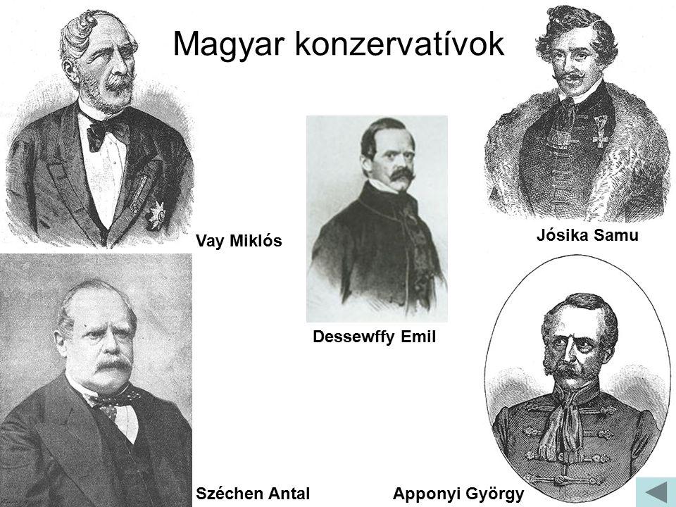 Magyar konzervatívok Jósika Samu Vay Miklós Dessewffy Emil