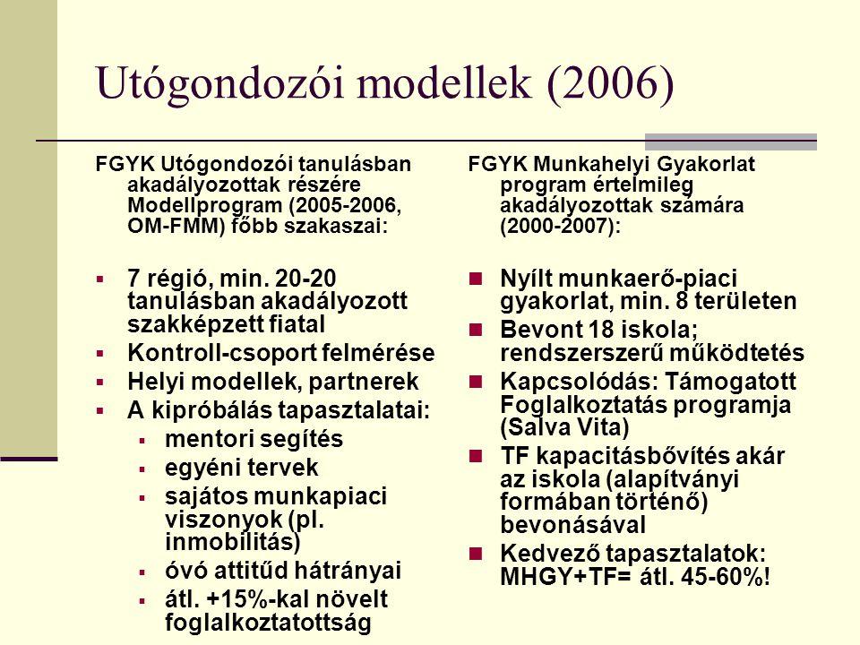 Utógondozói modellek (2006)