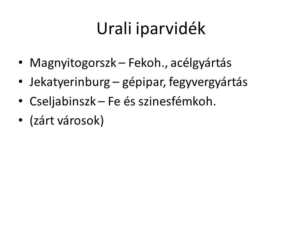 Urali iparvidék Magnyitogorszk – Fekoh., acélgyártás