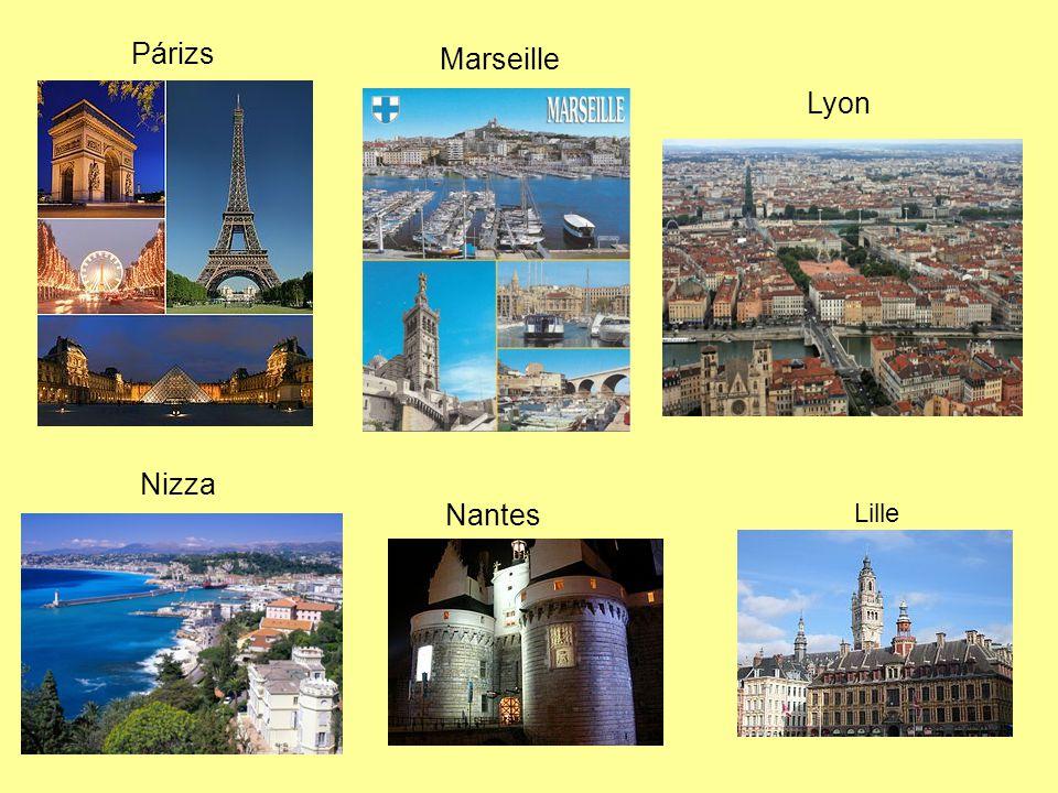 Párizs Marseille Lyon Nizza Nantes Lille
