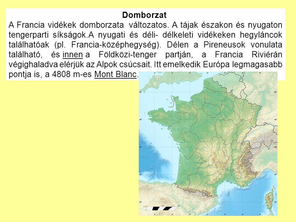 Domborzat A Francia vidékek domborzata változatos