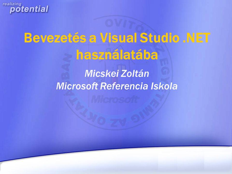 Bevezetés a Visual Studio .NET használatába