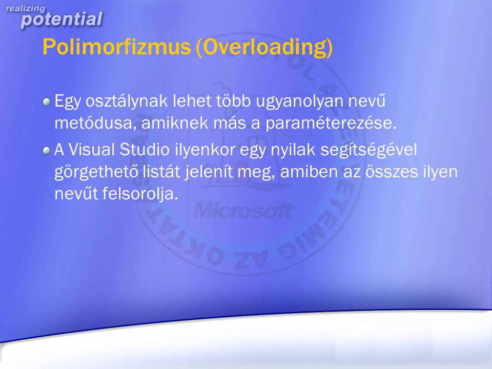 Polimorfizmus (Overloading)