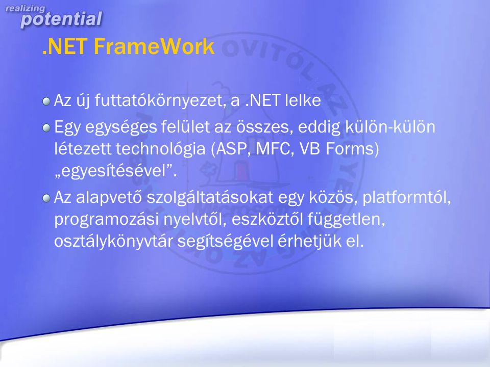 .NET FrameWork Az új futtatókörnyezet, a .NET lelke